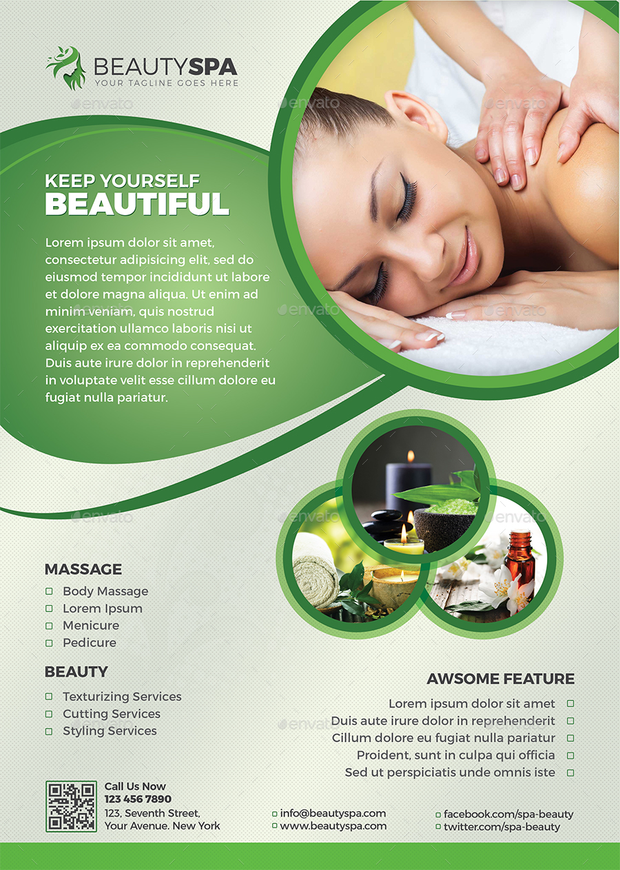 Spa Flyer / Beauty Flyer by themedevisers | GraphicRiver