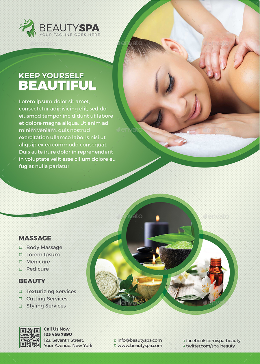 spa flyer    beauty flyer by themedevisers