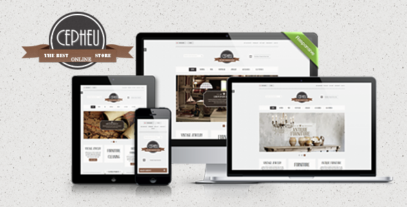Cepheu - eCommerce Bootstrap Template - Shopping Retail
