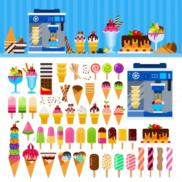 Tasty Ice Cream on the Table - Food Objects