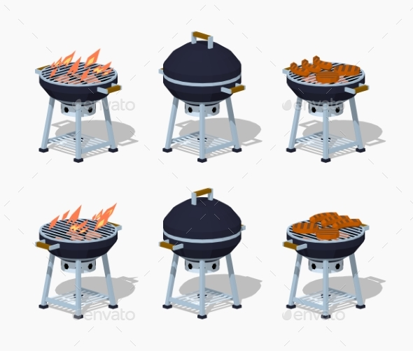Low Poly Barbecue - Man-made Objects Objects