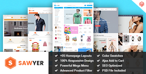 Sawyer – Multipurpose Responsive Magento Theme
