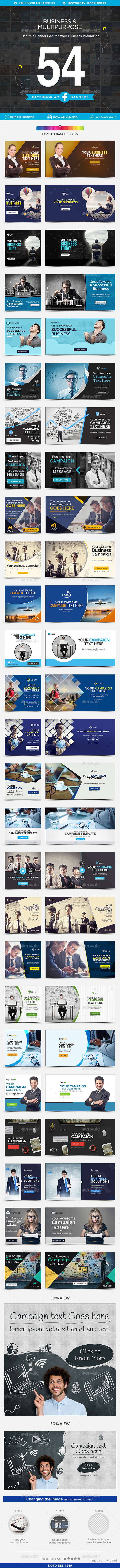 Facebook Ad Banners - 27 Designs - Banners & Ads Web Elements