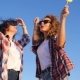 Happy Excited Funky Girls Dancing In Summer Outdoors - VideoHive Item for Sale