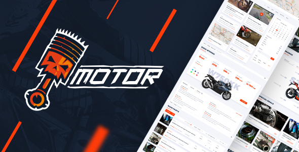 Motor – Vehicles, Parts & Accessories Store – PSD Template