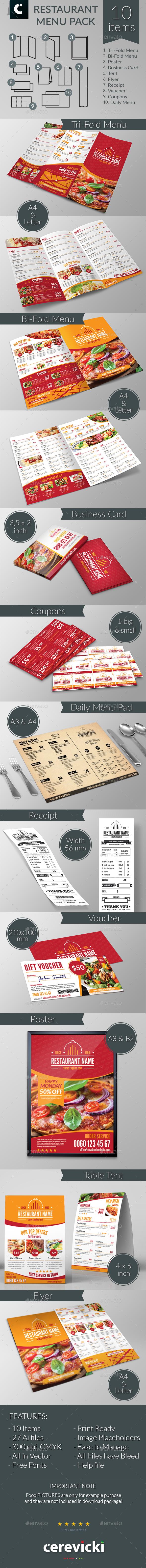 Restaurant Food Menu Pack - Restaurant Flyers