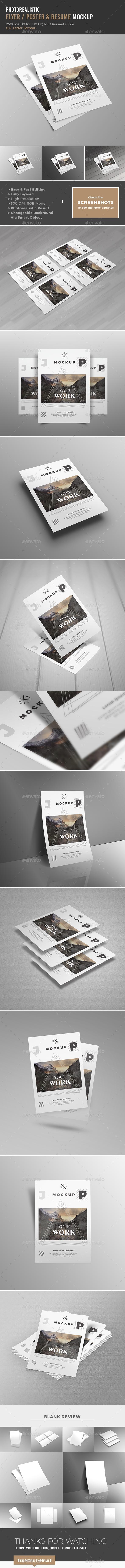 US Letter - Mockup - Posters Print