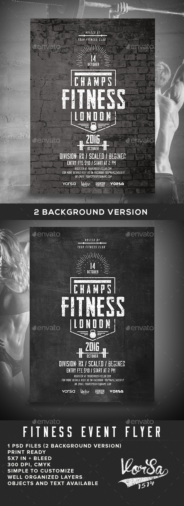 Fitness Event Flyer - Sports Events