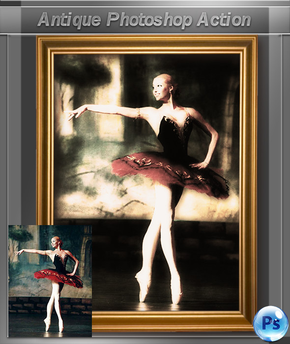 Antique Photoshop Action - Photo Effects Actions
