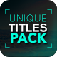 Unique Titles Pack - VideoHive Item for Sale