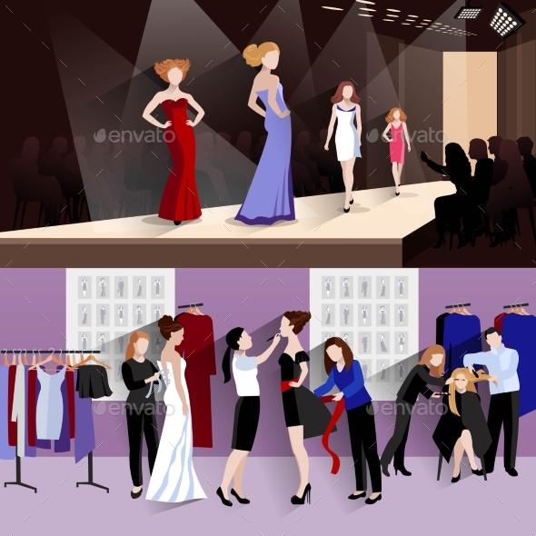 Fashion Model Banner Set - Miscellaneous Vectors