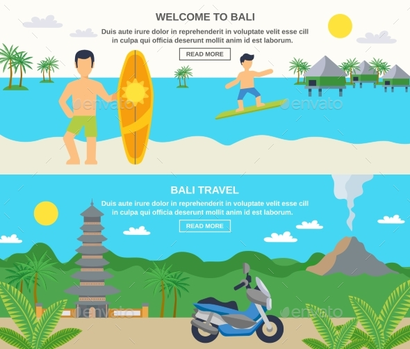 Bali Travel Banners - Travel Conceptual