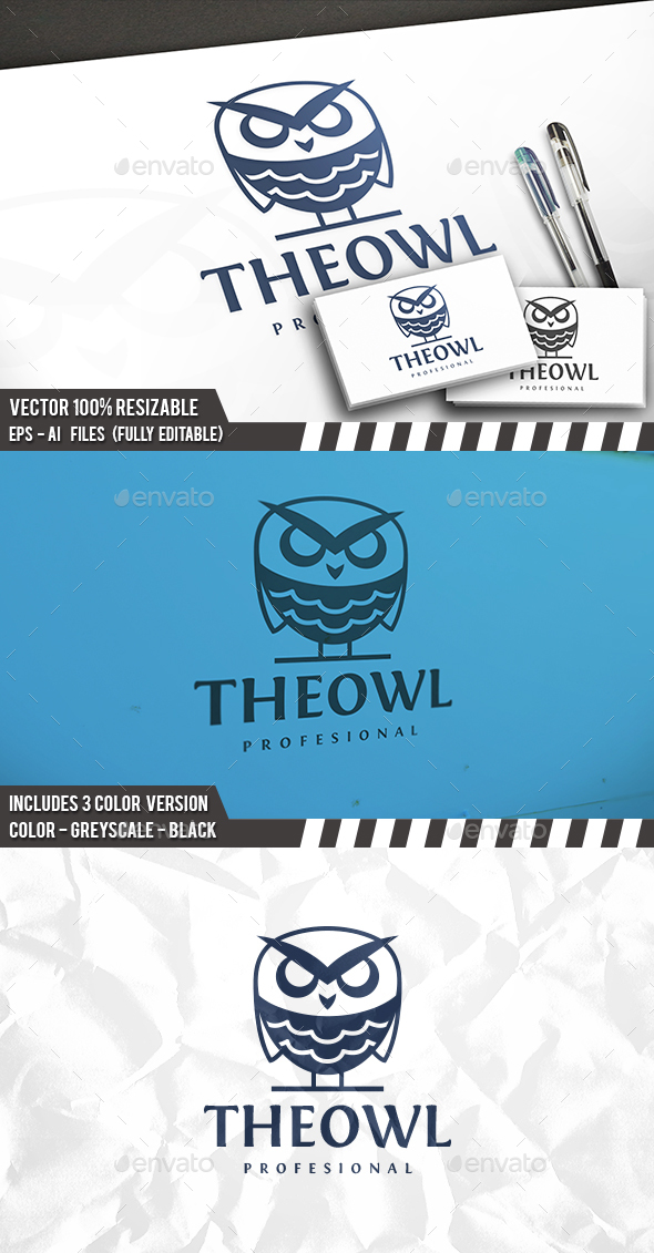 The Owl Logo - Animals Logo Templates