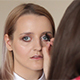 Makeup Artist Corrects The Eyebrow Line Of Model - VideoHive Item for Sale