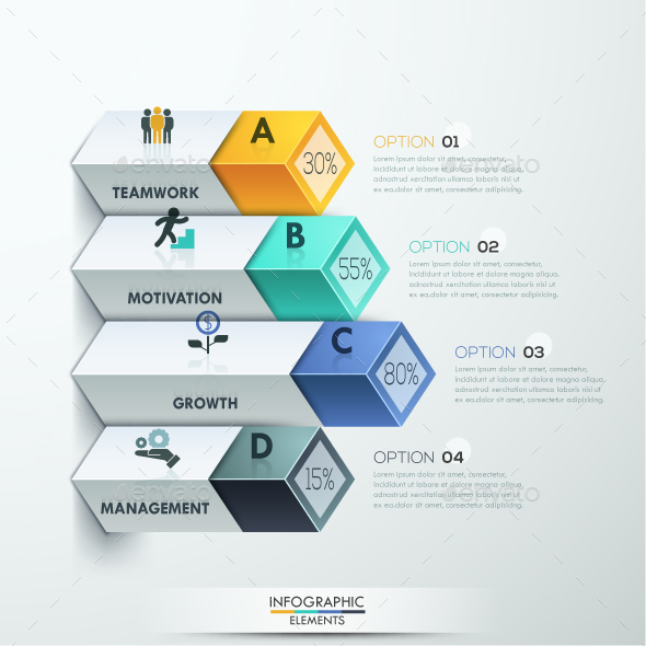 Abstract 3d Diagram Infographics Options - Infographics