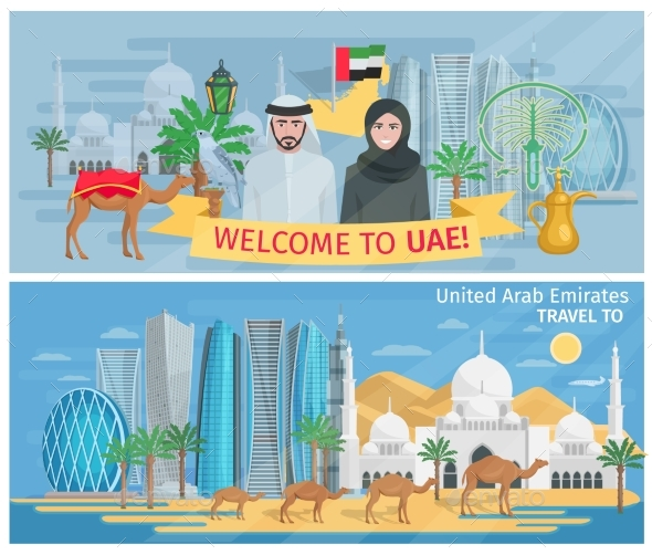 Welcome to United Arab Emirates Banners - Travel Conceptual