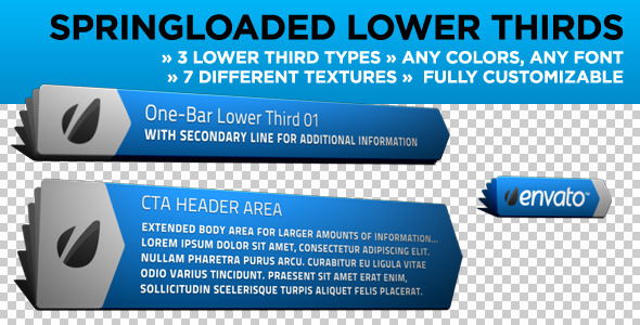 Springloaded Lower Thirds By MotionRevolver