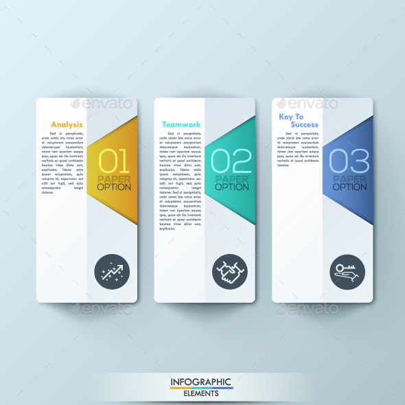 Modern Infographic Paper Timeline Template - Infographics