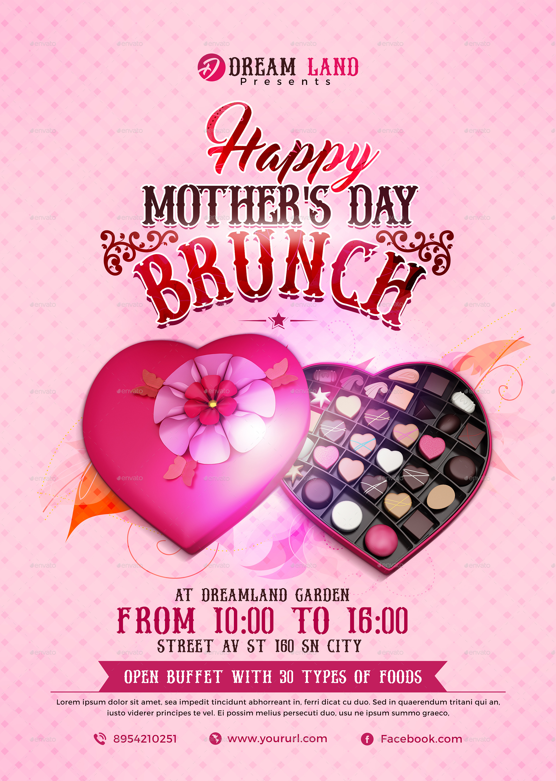 BEE 1293 Mothers Day Flyer Template_Preview Image Set/Flyer_CMYK ... Great Ideas
