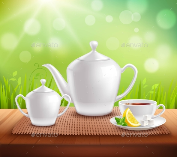 Elements of Tea Service Composition - Food Objects