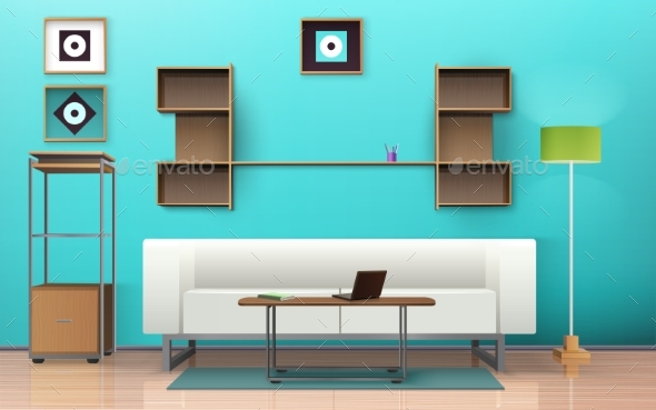 Living Room Isometric Design   - Man-made Objects Objects