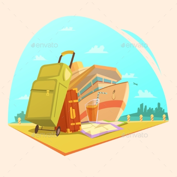 Voyage Cartoon Concept  - Travel Conceptual