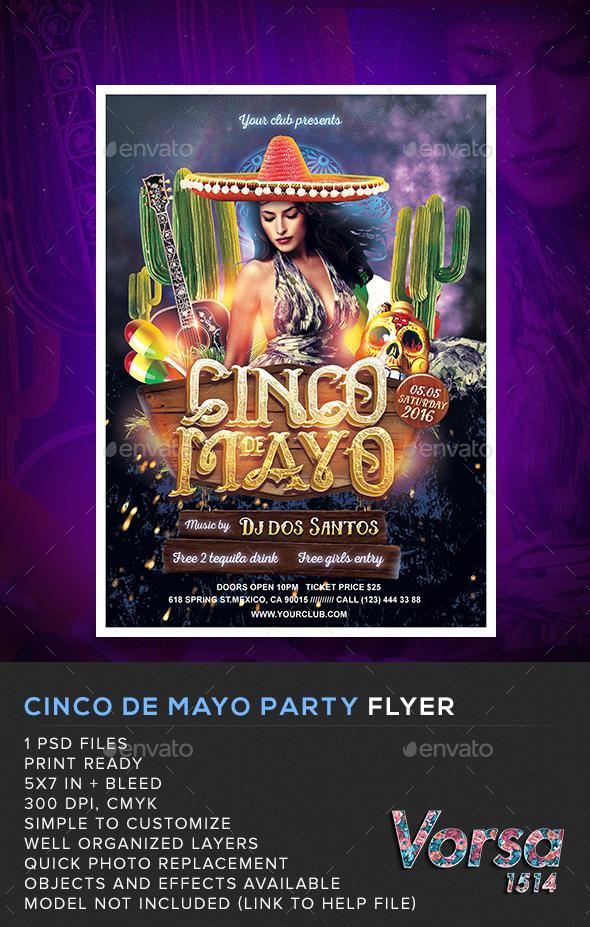 Cinco De Mayo Party Flyer By Vorsa Graphicriver