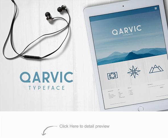 QARVIC Typeface - Sans-Serif Fonts