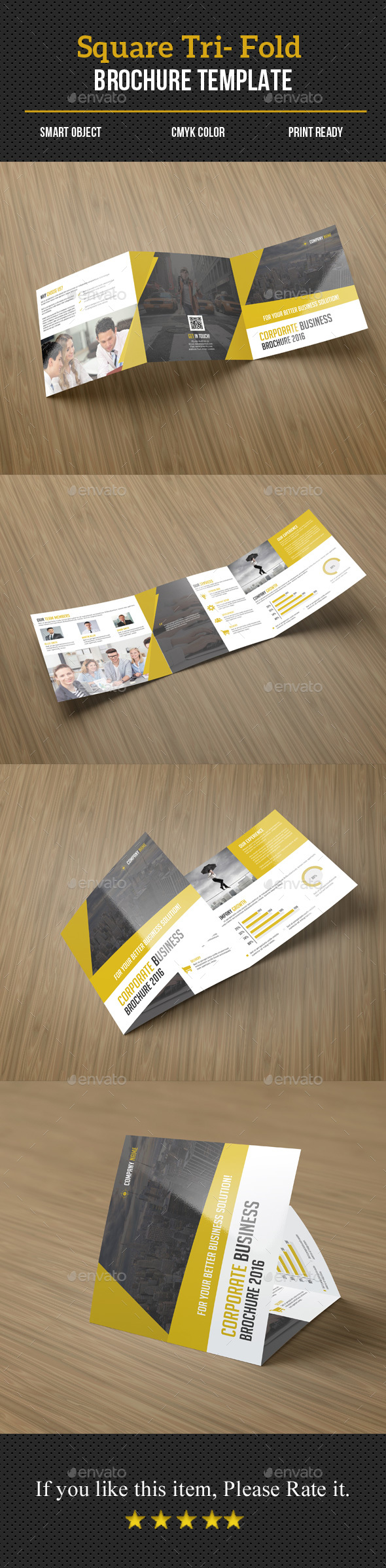 Square Tri-Fold Business Brochure - Corporate Brochures
