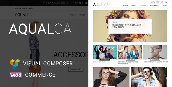 Aqualoa – Magazine & News Html Template