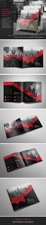 Corporate Bi-fold Square Brochure 02 - Corporate Brochures