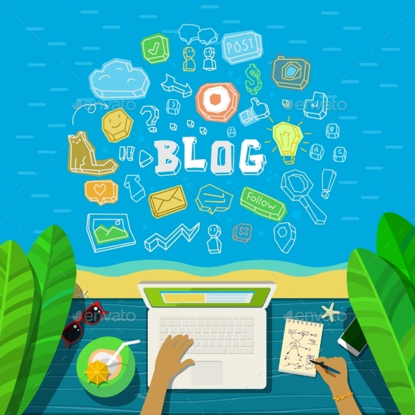 Concept of Blogging - Concepts Business