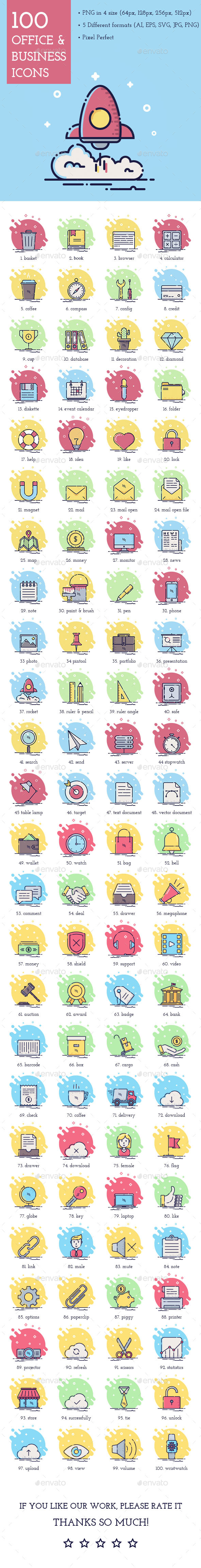 100 Office & Business Icons - Business Icons