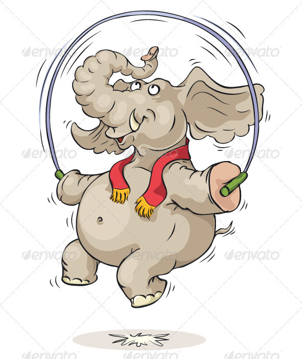 Jumping Elephant - Animals Characters