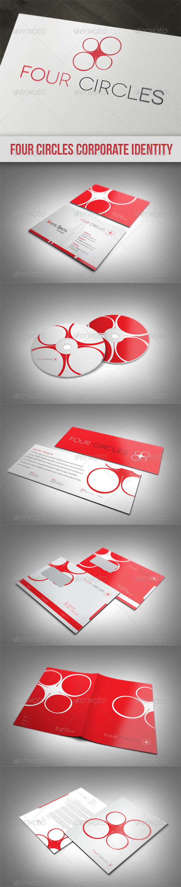 Four Circles Corporate Identity - Stationery Print Templates