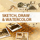 Sketch, Draw & Watercolour Photoshop Action - GraphicRiver Item for Sale