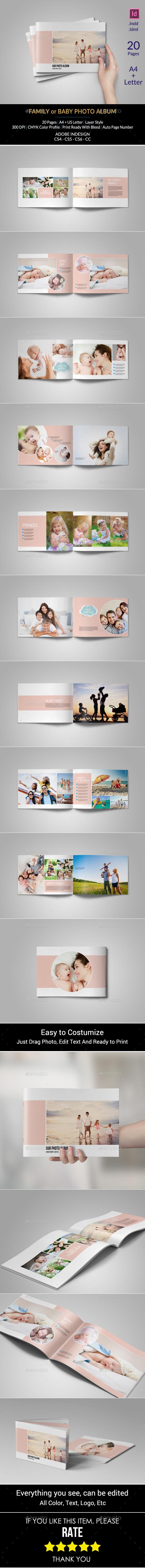 Family Or Baby Photo Album - Photo Albums Print Templates