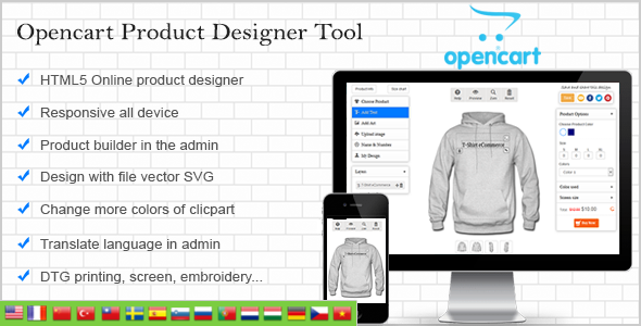 Opencart Custom Product Designer - CodeCanyon Item for Sale