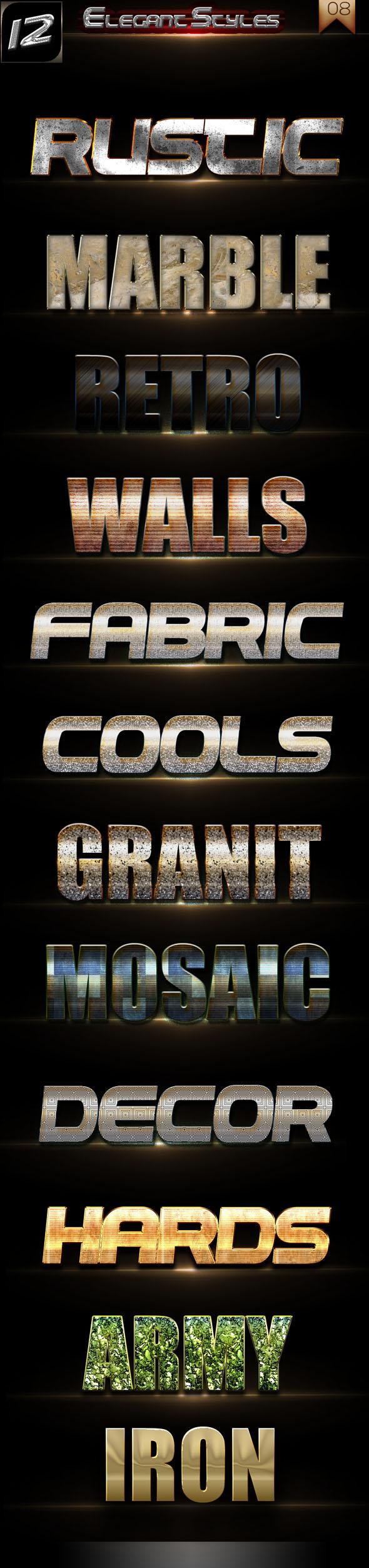 Elegant Styles Vol 008 - Styles Photoshop
