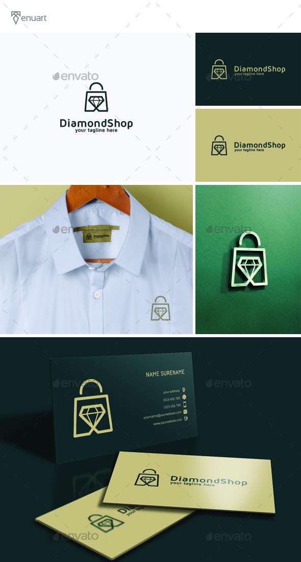 Diamond Shop Logo - Objects Logo Templates