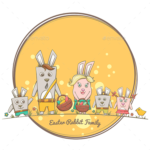 Easter Rabbit Family - Animals Characters