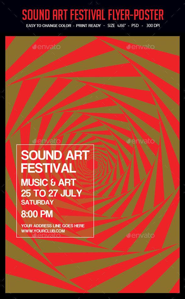 Sound Art Festival Flyer-Poster - Clubs & Parties Events