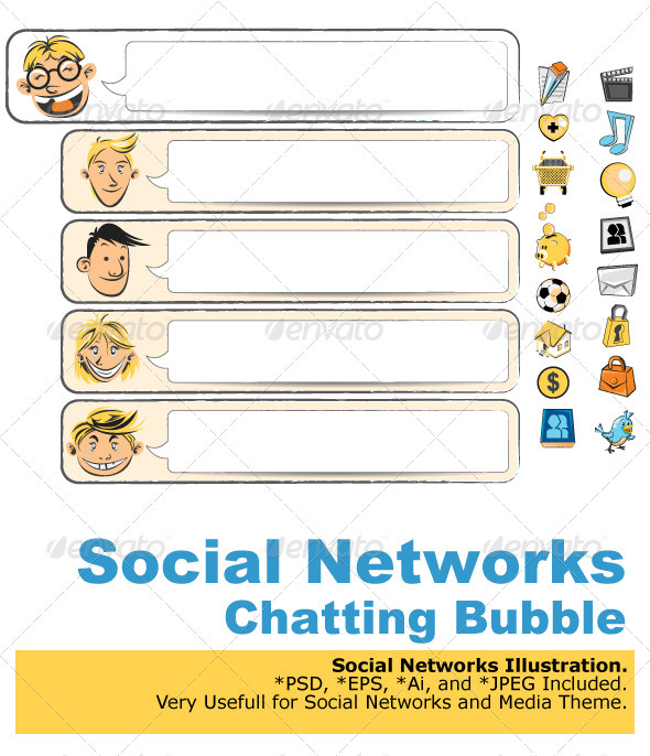 Social Networks Bubble Chat - Media Technology