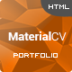 Material CV - Personal CV HTML Template - ThemeForest Item for Sale