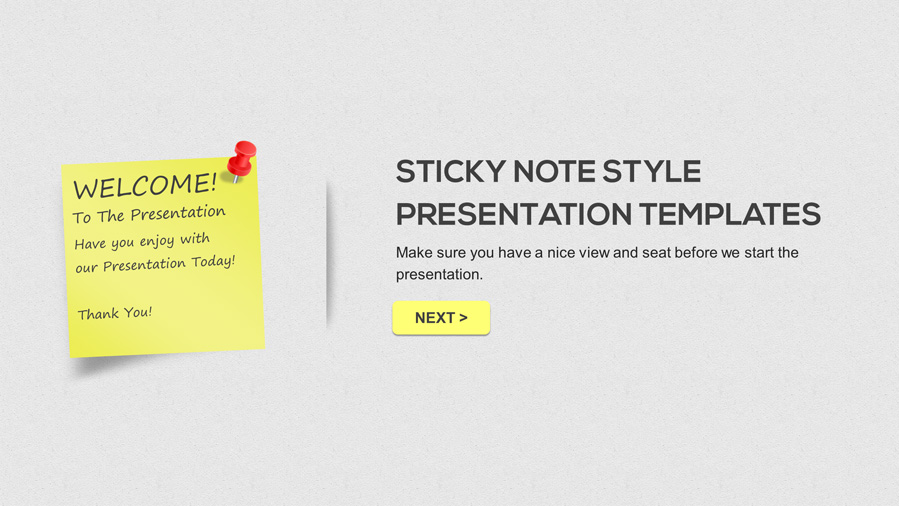 sticky note powerpoint presentation template by arvaone