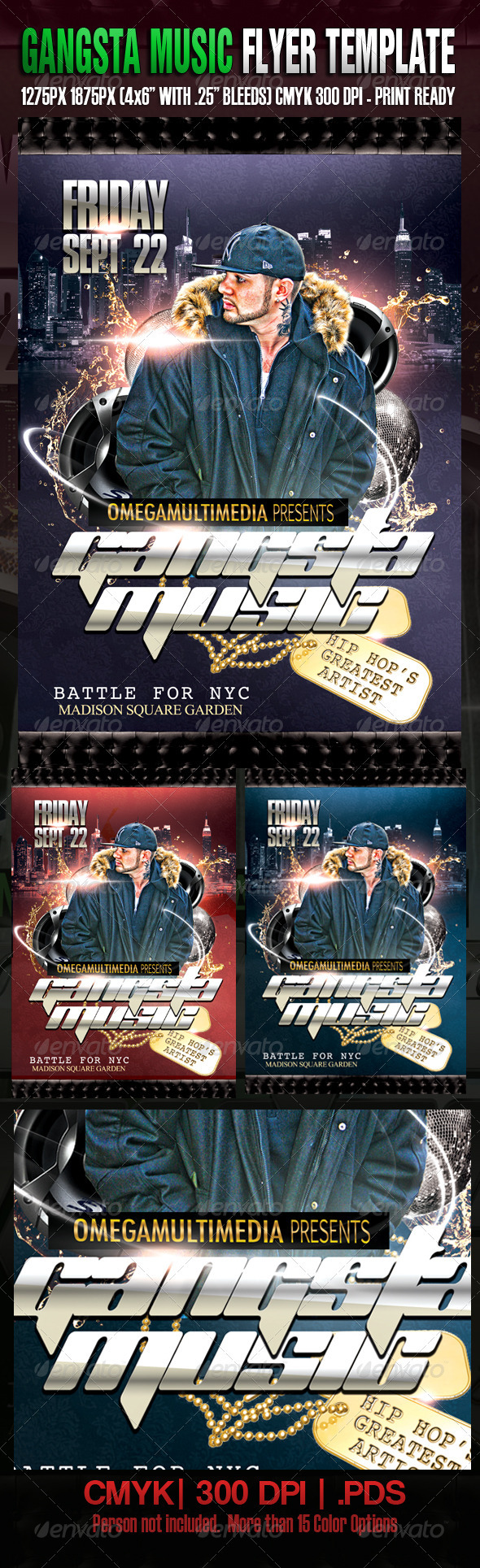 Gangsta Music Template - Clubs & Parties Events