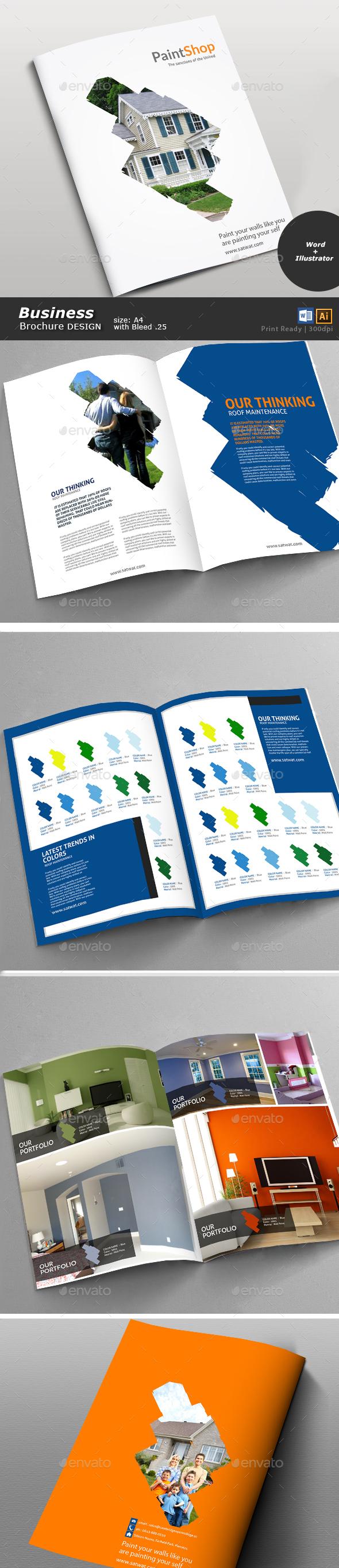 Paint Shop Brochure  - Brochures Print Templates