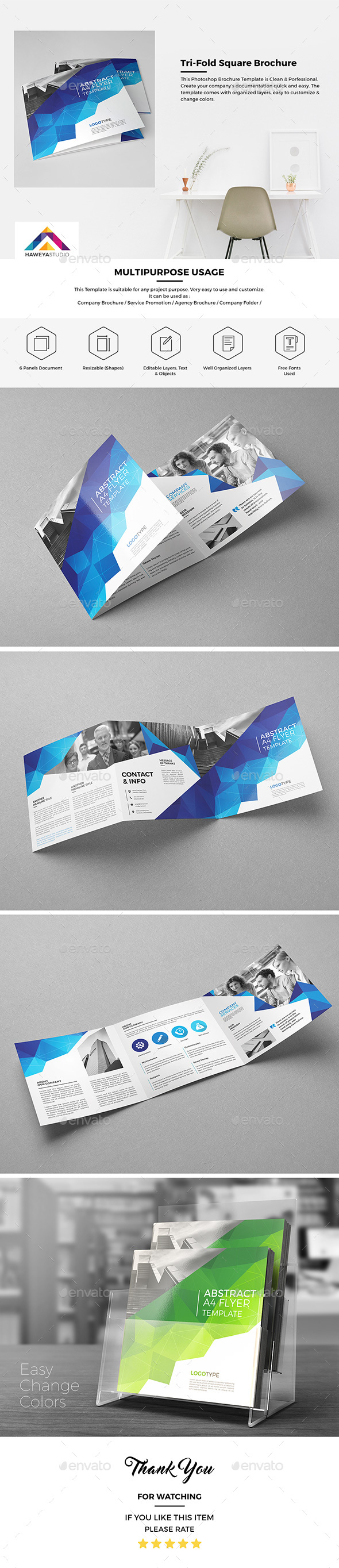 Haweya Tri-Fold Square Brochure 03 - Corporate Brochures