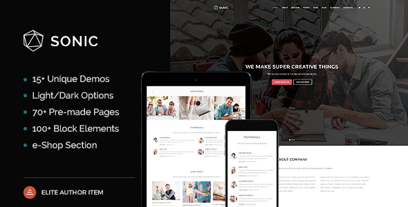 Sonic – Responsive & Multipurpose WordPress Theme