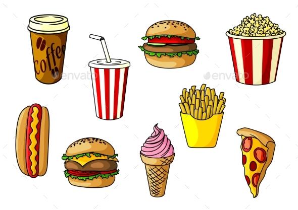 Fast Food Snacks - Food Objects